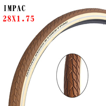 Велосипедная шина IMPAC, 28 дюймов, 47-622, стальная шина 28x1,75, с коричневой окраской, Светоотражающая полоса, велосипедная шина