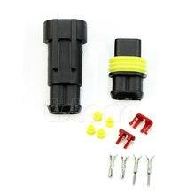 Электрический провод разъем 1 комплект 2 Pin Way водонепроницаемый для автомобиля Мотоцикл Прямая Поддержка