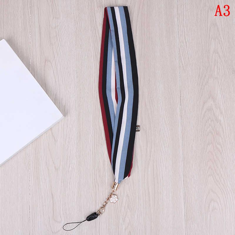 DIY 1 pasek do telefonu komórkowego wstążka w stylu kreskówki Flamingo bambusowa smycz na szyję na klucze karta identyfikacyjna na USB pokrowiec na karty ozdobny pasek
