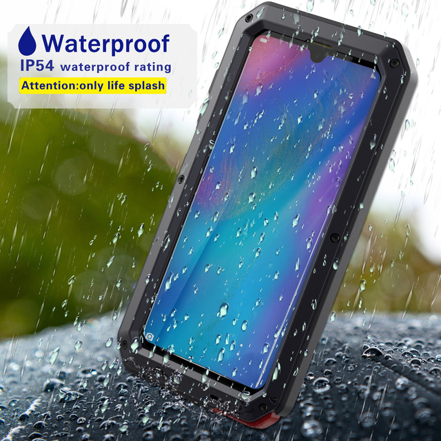 Funda para teléfono inteligente deportiva resistente al agua anticolisión stranger aluminio metal pesado, Estética de lujo, huawei P30 Pro mate 20 30 pro