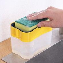 Soap-Pump-Dispenser Soap-Organizer Sponge-Holder Liquid Container Kitchen-Brush