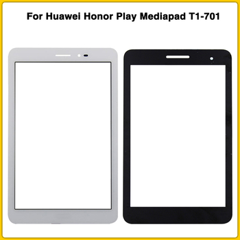 New LCD Front Glass Lens touch Screen For Huawei Honor Play Mediapad T1-701 T1 701U T1-701U Touch Panel Outer Glass image