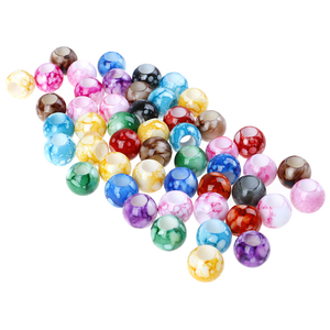 50pc/lot DIY Colorful Gradual Change Acrylic Round Hair Beads For Braids DIY Dreadlock Beads Hair Jewelry For Braids Accessories