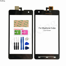 5'' Touch Screen Glass For Myphone Cube Touch Screen Mobile Digitizer Touch Panel Sensor TouchScreen Front Glass Tools Adhesive