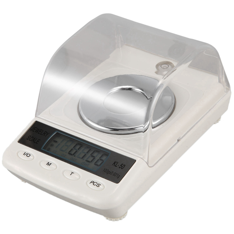 100G / 0.001G LCD Digital Jewelry Scale Precision Diamond Laboratory Scale Electronic Scale with USB Cable