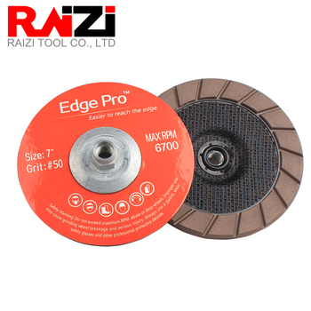 Raizi 7 inch/180mm Ceramic Diamond Edge Grinding Cup Wheel for Concrete Floor Scratches Removal M14 5/8-11 Dry Grinding Disc 5 inch 125mm single row cup wheel for concrete grinding disc grinding wheel bore 22 23mm