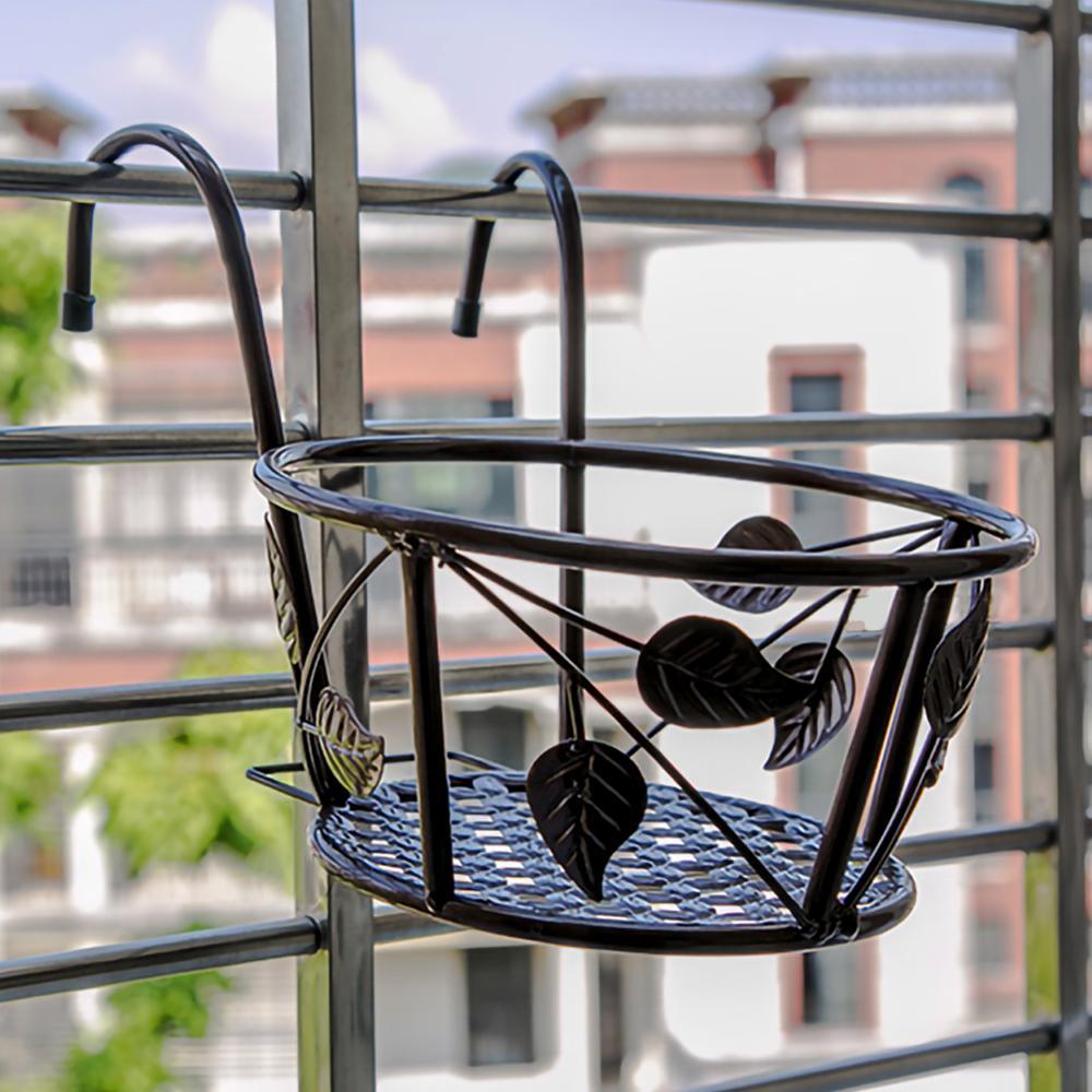 Подвешивание перила кашпо цветок горшок держатель растение держатель для дома на улице балкон патио использование