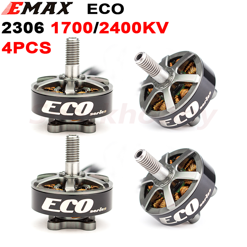 4PCS Emax ECO Series 2306 <font><b>1700KV</b></font> 2400KV 4S 6S CW Multirotor <font><b>Brushless</b></font> <font><b>Motor</b></font> 5-6inch Propeller For RC Quadcopter FPV Racing Drone image