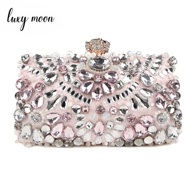 Luxy Moon المرأة مساء حقيبة صغيرة حجر الراين مخلب محفظة السيدات حقائب اليد حقائب الزفاف محفظة حقيبة حفلات ZD848