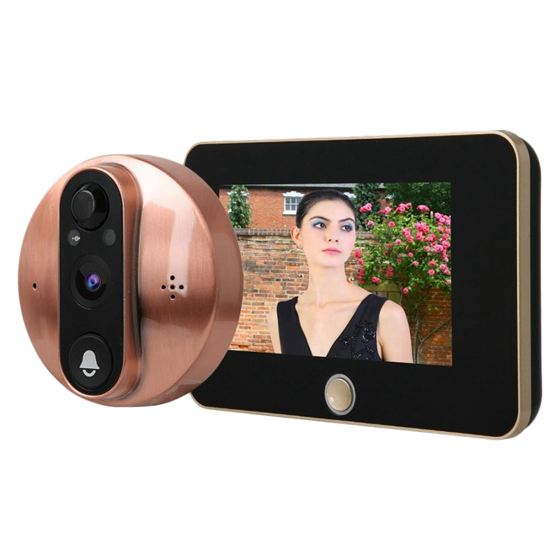 4.3 Inch Monitor Video Peephole WiFi Doorbell Camera PIR Motion Detection Wireless Intercom APP Control