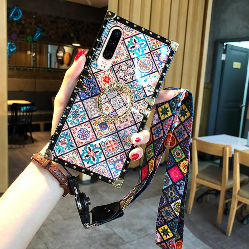 Bohemian Style Phone Case Belt Hanging Rope and Ring Buckle For Huawei P20 P20 Pro P30 P30 Pro