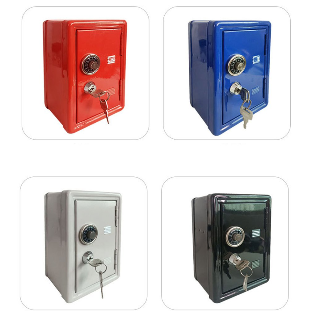Household Insurance Box Mini Metal Safe Creative Piggy Bank Key Insurance Cabinet Desktop Decoration