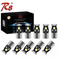 10x T10 LED W5W LED COCHE DRL 3030 3SMD 194 168 posición luces lectura lámpara Interior Canbus 12V 6500k blanco amarillo polaridad libre
