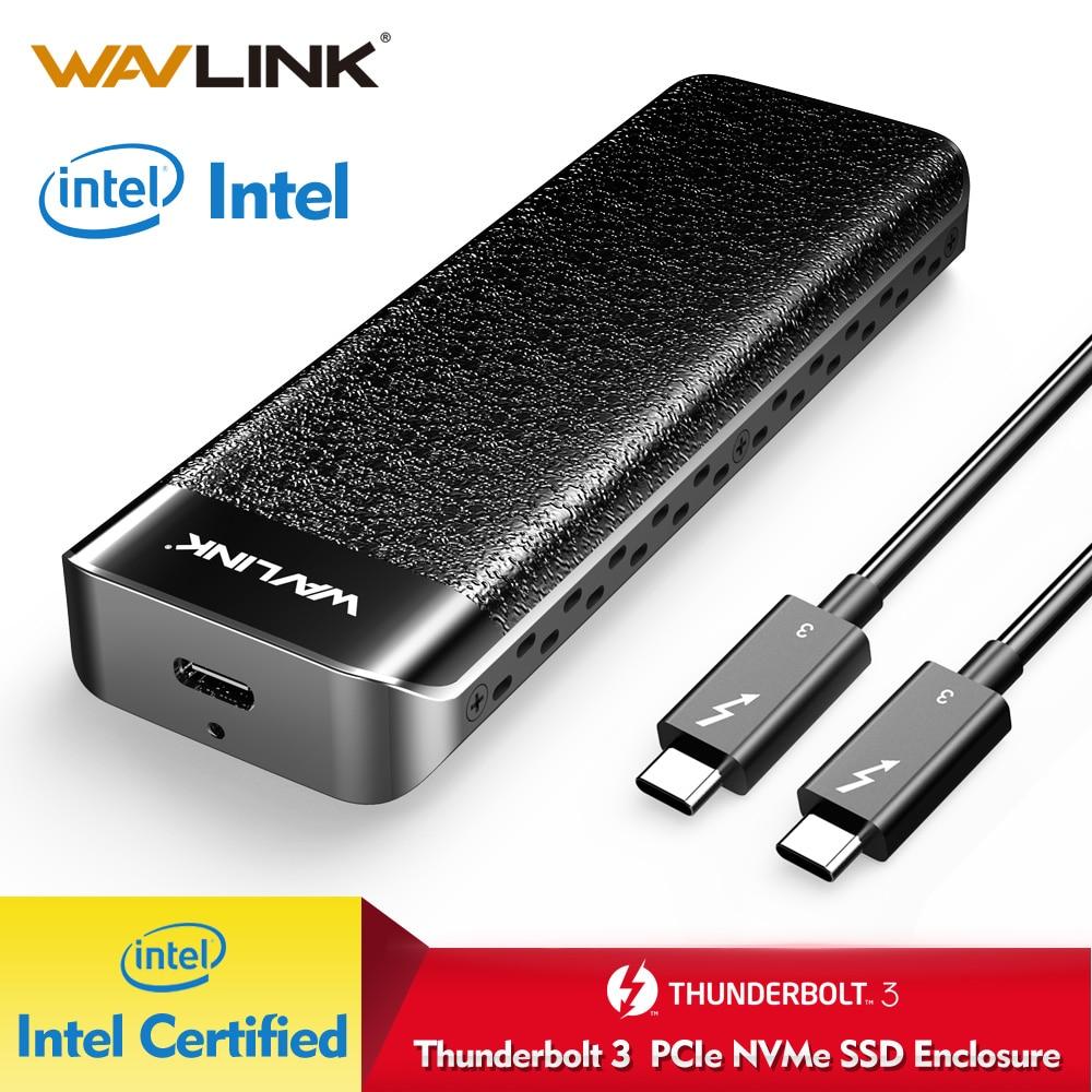 Wavlink USB C Thunderbolt 3 NVME внешний SSD корпус алюминиевый type-C NVMe разъем отличное рассеивание Intel Сертифицированный