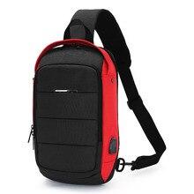 Fashion Male Shoulder Bag Panelled Large Capacity Chest