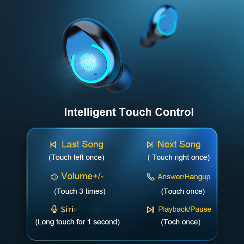 cheapest Bluetooth 5 0 Wireless Earbuds with 4200mAh Charging Case IPX7 Waterproof TWS Stereo Headphones in Ear Built in Mic Headset