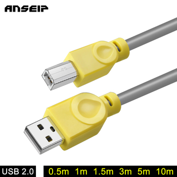 ANSEIP USB 2.0 Print Cable USB 2.0 Type A Male To B Male Sync Data Scanner USB Printer Cable 10m for HP Canon Epson Printer