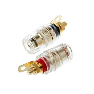 Borne de liaison 1 paire 4mm | Test des enceintes, fiche banane, connecteur d'amplificateur, haut-parleur