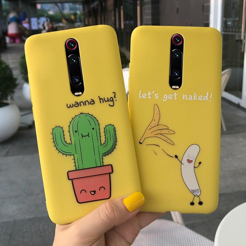 Cartoon Phone Case For Xiaomi Mi 9T 9 T Pro Candy Color Matte Soft Silicone Cover Case For Xiaomi Redmi K20 K 20 Pro Cover Mi9t