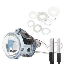 SHUOKE 3.0 Inch Mini Bi-xenon Car HID Headlights Projector Lens 21.5mm H1 12V 35W Bulb Retrofit Hi/Lo Beam 2PCS New car light