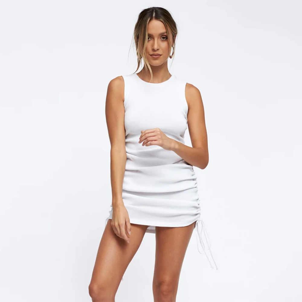 女性の夏のドレスホットセクシーなクラブパーティードレスヴィンテージ綿エレガントなシース包帯ボディコンドレスガールズカジュアルドレスショートミニドレス