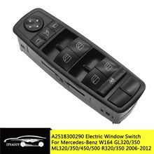 2518300290 Interruptor Da Janela de Poder Para O Benz W164 GL320 GL350 GL450 ML320 ML350 ML450 ML500 R A2518300290 A251 830 0290