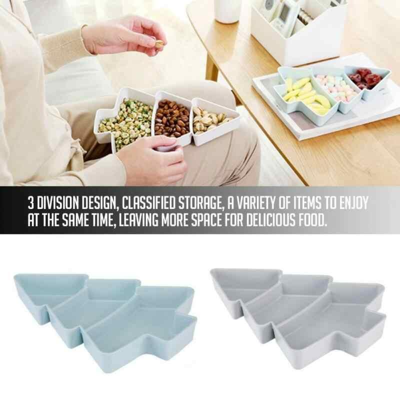 2 kolory choinki siatka suszone talerz na owoce kreatywny dom naczynie na przekąskę salon plastikowe półmisek na cukierki nasiona suszone skrzynka owoców
