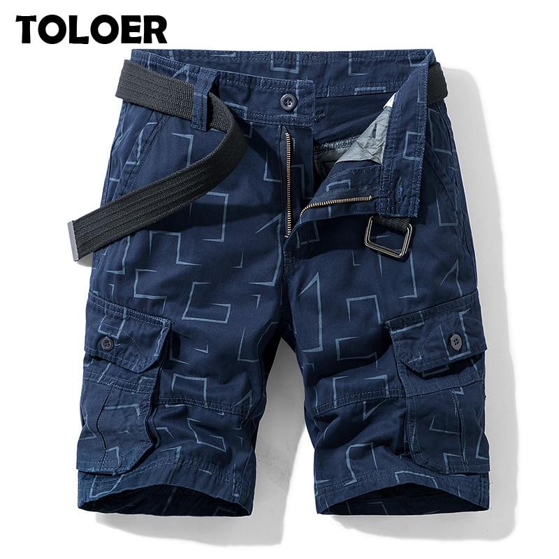 Summer Men''s Camo Cargo Shorts Cotton Military Camouflage Male Jogger Board Shorts Men Brand Clothing Men Tactical Cargo Shorts