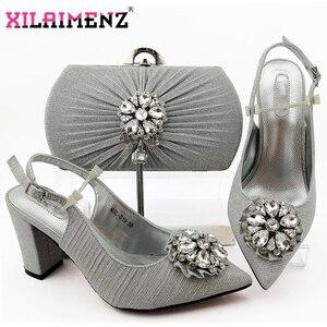 Image 1 - 2020 Nieuwe Ontwerp Nigeriaanse Retro Schoenen En Tas Te Passen Set Afrikaanse Vrouwen Schoenen Comfortabele Hakken Partij Schoenen En Tas set