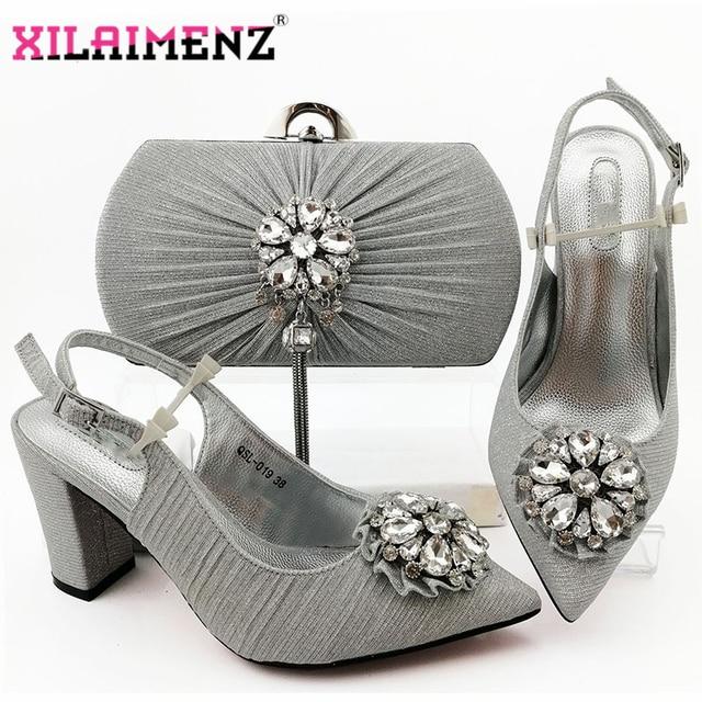 2020 Nieuwe Ontwerp Nigeriaanse Retro Schoenen En Tas Te Passen Set Afrikaanse Vrouwen Schoenen Comfortabele Hakken Partij Schoenen En Tas set