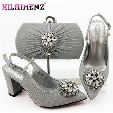 2020 novo design nigeriano retro sapatos e saco para combinar conjunto de sapatos femininos africanos sapatos de salto confortável sapatos de festa e saco conjunto
