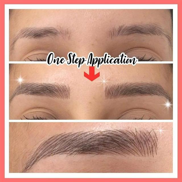 2020 4D Hair-like Eyebrow Tattoo Sticker False Eyebrows Waterproof Lasting Makeup Water-based Eye Brow Stickers Cosmetics Tools 2