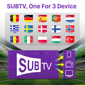 SUBTV IP Spian Belgium Portugal Germany Albania Czech Android TV M3u Smart Italy Sweden No App Included 1 for 3 device FHD