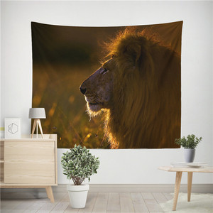 Image 4 - Lion Tiger Tapestry Colorful Animal Tapestry Wall Hanging Lion and Tiger Printed Decoration