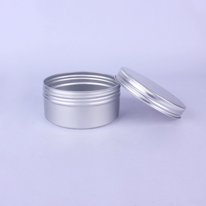 Image 3 - 20pcs 200g 200ml Empty Aluminum Cream Jar Tin Cosmetic Lip Balm Containers Nail Derocation Crafts Pot with Screw Thread