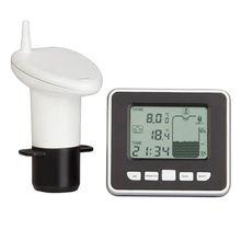 Ultrasonic Water Tank Level Meter Temperature Sensor Low battery Liquid Depth Indicator Time Alarm Transmitter Measuring