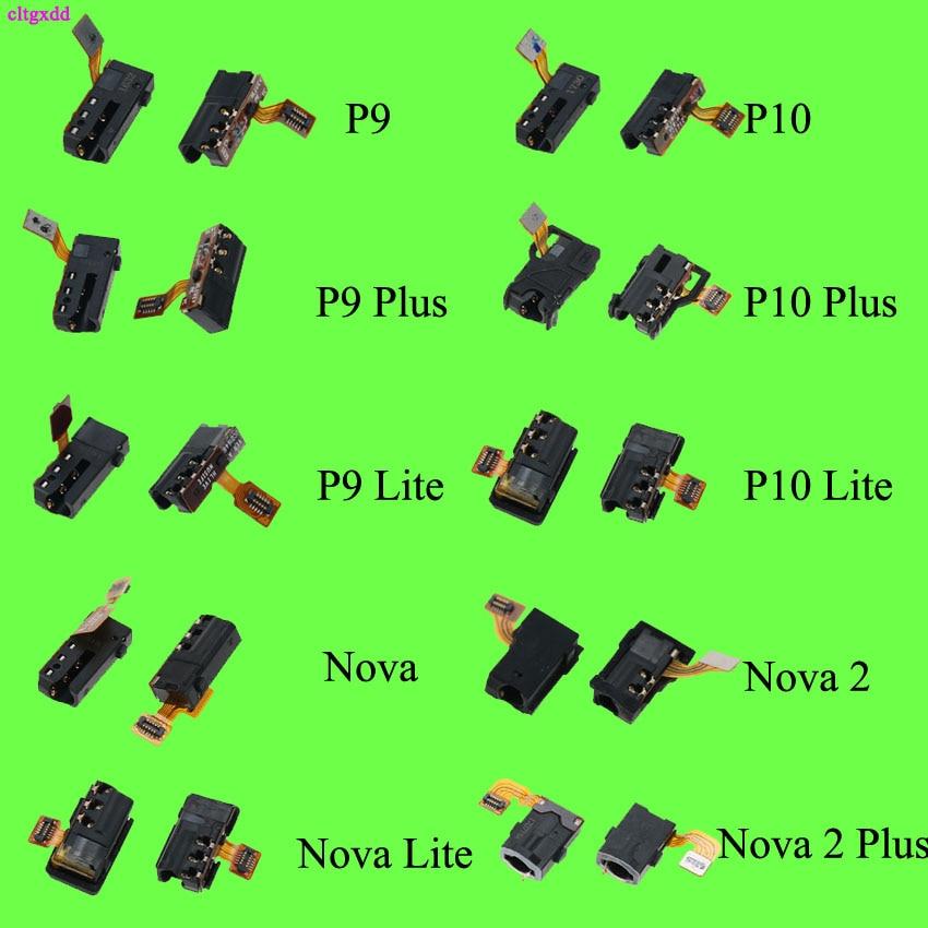 Cltgxdd 1pcs New Earphone Headphone Audio Jack Flex Cable For Huawei P9 P10 Nova Lite Honor 7i 8 9 V8 V9 5X 6X Smart Repair