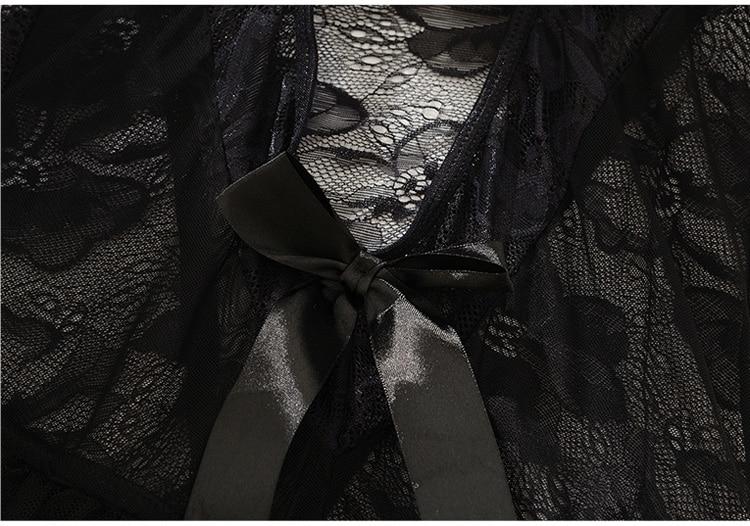 Sizzle Intimates Transparent Lace Babydoll Lingerie
