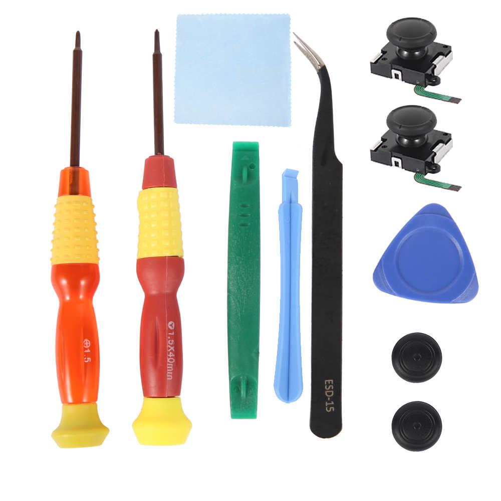 7/8/10 pièces 3D Joystick analogique remplacement manette pouce bâton outil de réparation ensemble pour Nintendo Switch NS Joystic Joy Con