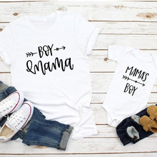 1pcs Mom and Son Matching Clothes Family Look 2019 Summer Bestfriend Shirts