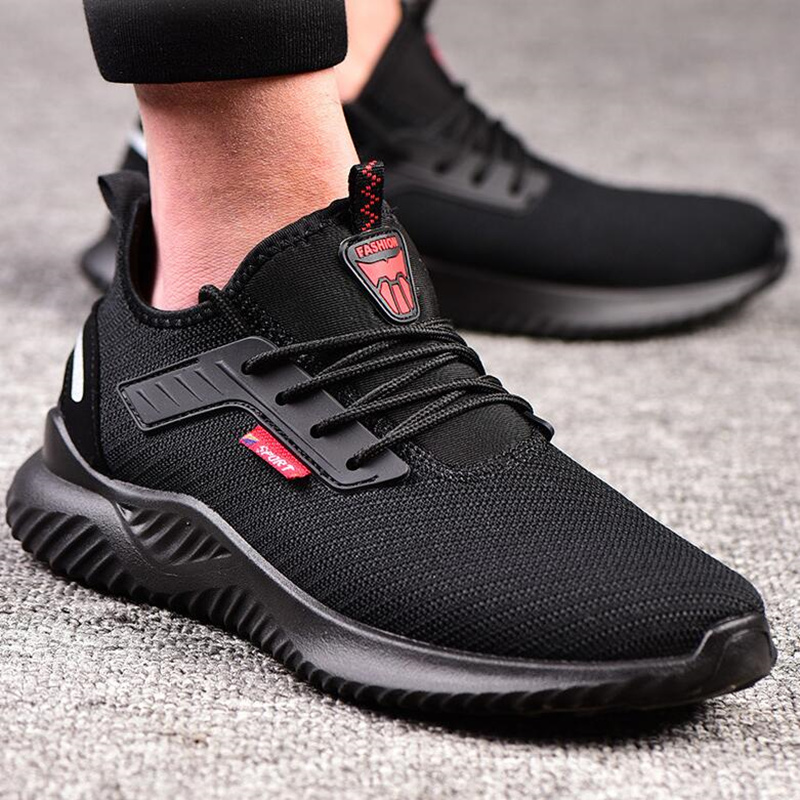 Indestructible Shoes Men Safety Work Shoes with Steel Toe Cap Puncture-Proof Boots Lightweight Breathable Sneakers Dropshipping 4