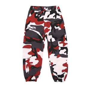 Image 3 - Wine Kid Hip Hop Clothing Camouflage Jogger Pants for Girls Jazz Dance wear Costume Ballroom Dancing Clothes Stage Outfits Suit
