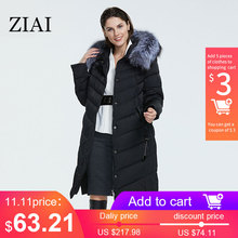 Coats Parkas Down-Jacket ZIAI Factory-Quality Womens Winter Loose-Fur-Collar Female Plus-Size
