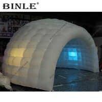 Doppel schicht weiß outdoor zimmer 6m weiß aufblasbare kuppel zelt mit led-leuchten, aufblasbare iglu für event