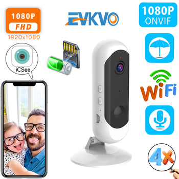 1080P HD Battery Security WiFi Camera H.265 PIR Human Detect Cloud Audio Wireless Home Security IP Camera Wire-Free CCTV Camera