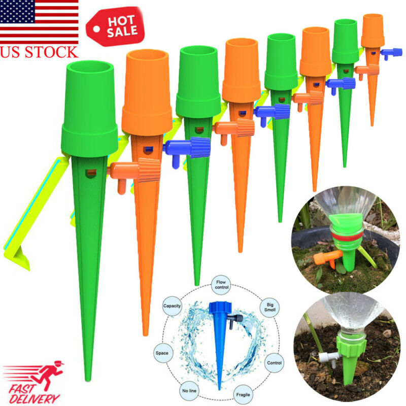 New Plant Self Watering Adjustable Stakes Automatic Spike Irrigation System New Automatic Watering Device 2 Color