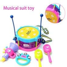 5 шт./компл. музыкальная игрушка набор приспособление для Музыкальные инструменты Группа Наборы для детей раннего образования игрушка в подарок для маленьких понять ручной музыкальный дверной звонок