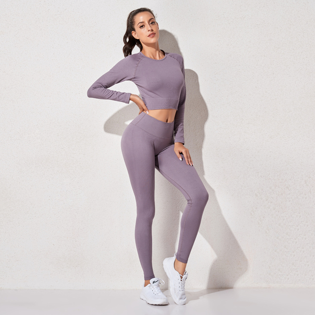 High Waist Sports Leggings Sports Shirts Yoga Sports Set Women s sportswear Yoga Sets Gym Clothing Workout Set Sport Suit Women