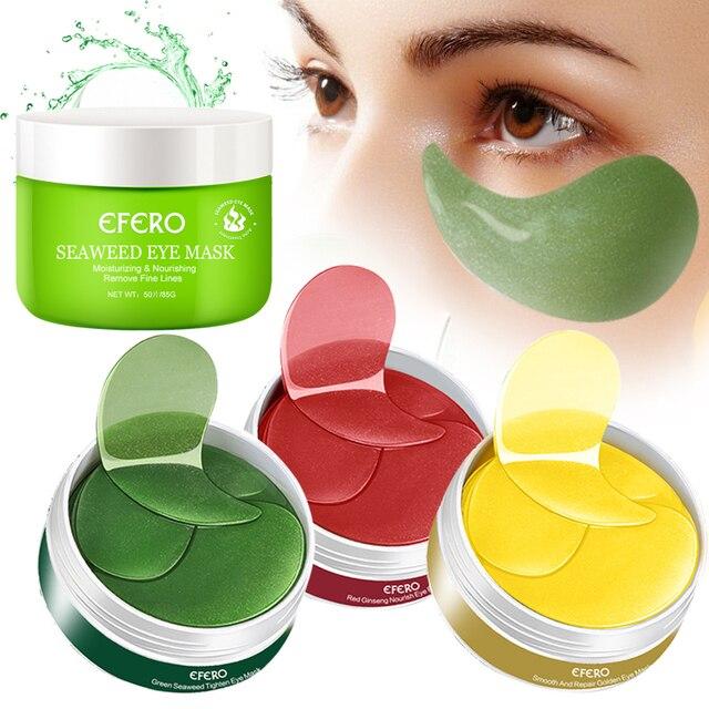 EFERO 50-180pc Crystal Collagen Eye Masks Anti Wrinkle Gel Masks Eye Patches Under Eye Bags Dark Circles Moisturizing Anti Aging 1