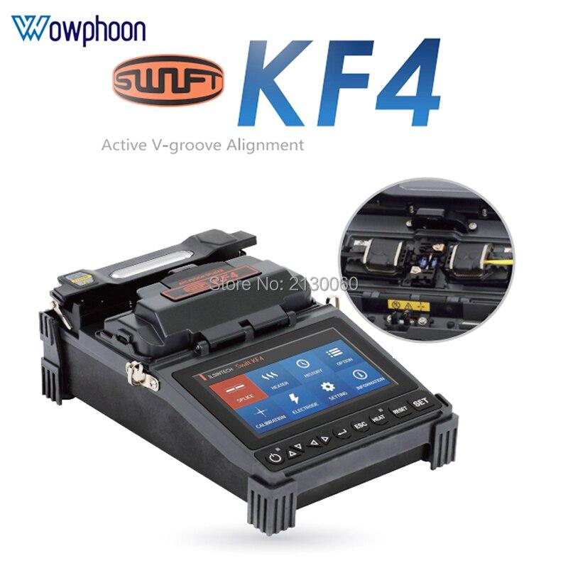 Free Shipping ILSINTECH Swift KF4 Fiber Fusion Splicing Machine KF4 Automatic Motor Drive KF4 Fiber Optic Fusion Splicer